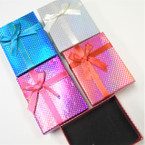 "2.75"" X 3.5"" Metallic Dot Gift Boxes w/ Ribbon  12 per pk .54 each"