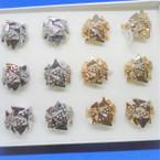 Gold & Silver Fashion Ring w/ Mini Stones .50 each
