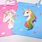 "Best Quality 10"" X 12.5"" Pop Up Unicorn Gift Bags 12 per pk . 54 each"