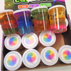 "2.25"" X 3"" Colorful Multi Color Slime 12 per display box .58 each"