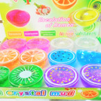 "3"" Crystal Fruit Slime w/ Glitter 12 per display bx .54 each"
