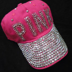 Pink Theme Metallic Stone Fashion Baseball Caps sold by pc $ 4.25 each