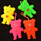 "4"" Neon Color Flashing Cute Bear Puffer YoYo 12 per bx .56 ea"