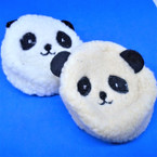 "3.5"" Fury Panda Bear Zipper Coin Purse w/ Keychain .54 each"
