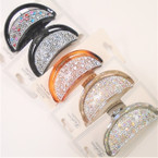 "Best Quality 3.25"" Crystal Stone Fashion Jaw Clips  .56 each"