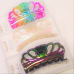 "3.5"" Asst Color Hologram Shiney Jaw Clips   .54 each"