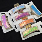 "3.5"" Gold Jaw Clips w/ Sequin Shiney Chips .56 each"