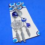 "4"" Dream Catcher Theme Keychains w/ Blue Eye Beads .56 each"