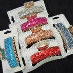 "3"" Gold Jaw Clips Loaded w/ Crystal Stones .56 each"