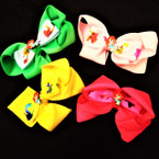 "4"" Mermaid Theme Gator Clip Bows 24 per pk .29 each"