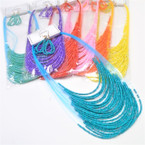 "20"" Multi Line Seed Bead Fashion Necklace Sets Summer Colors .58 each set"