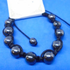 8MM Round Hematite Bead Macrame Bracelets .54 each