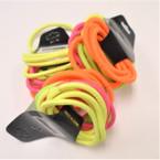 18 Pack Neon Mix Hair Elastic Ponytailers .54 per pk