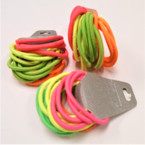18 Pack Neon Color  Mix Hair Elastic Ponytailers .54 per pk