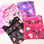 "5"" X 6.5"" 2 Zipper Bag w/ Strap Love Theme Asst Colors .45 each"
