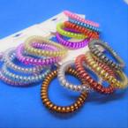 Trendy 5 Pack Phone Coil Ponytailers/Bracelets .56 per set