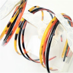 3 Pack Plastic Headbands w/ Teeth Blk & Browns  .54 per set