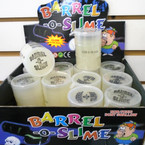"3"" X 2"" Glow in the Dark Barrel of Slime 12 per display bx .60 each"