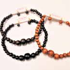 TRENDY  Wood Beaded Fashion Choker Necklace Set  .54 per set