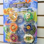 6 Pack Spin Gear Tops comes  6 - 6 pks per sale .50 ea set