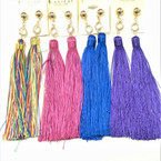 "5"" Asst Color Tassel Fashion Earring w/  Cry. Stone Top  .54 ea pair"