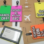"4"" Asst Color Luggage Tags w/ ID Tag  12 per pk  .50  each"