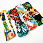"2.5"" Tropical Print Stretch Headbands Mixed Prints  .54 each"