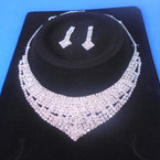 Elegant Clear Rhinestone Necklace Set (028) sold by set  $ 3.00 ea set