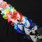 "5"" Gator Clip Bows Angel Wing Owl Theme Asst Colors  12 per pk .50 each"