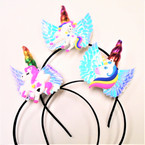 Trending Angel Wing  Unicorn  Fashion Headbands w/ Bow  .56 each