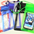 "4"" X 10"" Water Proof Cell Phone Case Necklace 10 Colors .62 each"