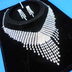 Elegant Clear Rhinestone Necklace Set (30) sold by set  $ 3.00 ea set