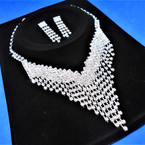 Elegant Clear Rhinestone Necklace Set (25) sold by set  $ 3.00 ea set