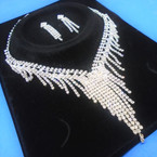 Elegant Clear Rhinestone Necklace Set (32) sold by set  $ 3.00 ea set