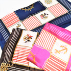 "20"" Square Nautical Theme 6 in 1 Scarf 3 colors  12 per pk  .54 each"