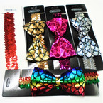 "Sequin Stretch Headband w/ 5"" Mermaid Scale Bow  .54 each"