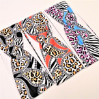 "3"" Stretch Headband Paisley Animal Print Design   .54 each"