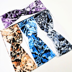 "3"" Stretch Headband Tye Dye  Animal Print Design   .54 each"
