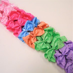 "4"" Pastel Color Gator Color Clips w/ Mini Stones  24 per pk .27 each"