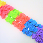 "4"" Neon Color Gator Color Clips w/ Mini Stones  24 per pk .27 each"