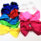 "8"" Jumbo Gator Clip Bow Mixed Bright Summer Colors  .55 each"