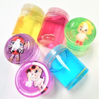 "2"" X 3"" New Colorful Character  Slime 12 per display bx .55 each"