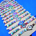 Cord  Bracelets w/ Colored Beads & Hasma Signs  12 per cd  .54 each
