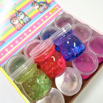 "2"" X 2.75"" New  Glitter Unicorn Theme  Slime 12 per display bx .58 each"