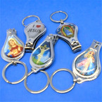 "2.5"" Mixed Style Religious Picture Keychain w/ Nail Clipper .54 each"