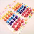 24 Pk Mini Butterfly Hair Clips .50 per pk