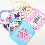 "4.5"" Wide Make Up  Theme Zipper Bag w/ Handles .56 each"