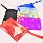 "5.5""  Zipper Coin Purse Wrislet Metallic Colors .54 each"
