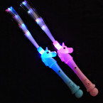 "18"" Unicorn Theme Fiber Optic 3 Function Flashing Wand  12 per pk  .80 each"