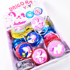Unicorn Theme Light Up YoYo's 12 per display bx .56 each